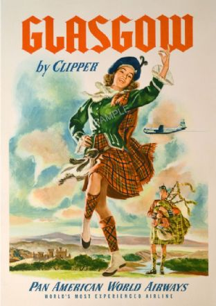 Glasgow by clipper Pan am
